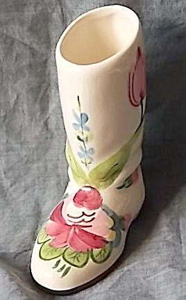 Vintage Blue Ridge Boot Vase Summertime