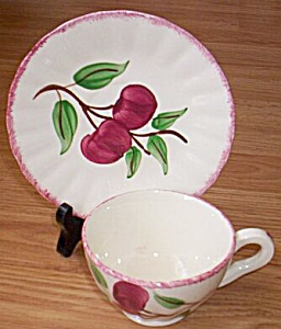 Blue Ridge Cup And Saucer Cherry Bounce