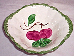 Blue Ridge Pottery Bowl Autumn Apple