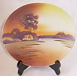 Nippon Hand Painted Plate Earth Tones