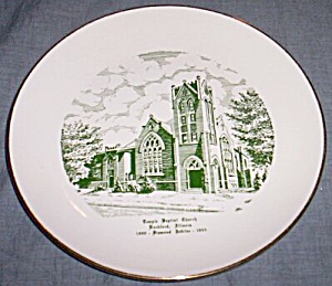 1955 Commemorative Plate Temple Baptist Church Rockford Il