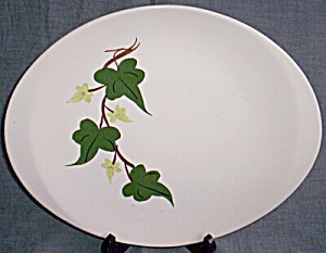 Blue Ridge Pottery Oval Serving Platter Baltic Ivy