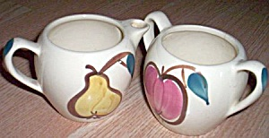 Purinton Pottery Cream And Sugar Fruit
