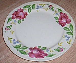 Homer Laughlin Dinner Plate Large Rose Rim