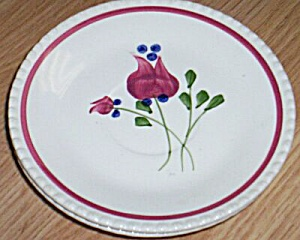 3 Blue Ridge Pottery Saucers Our Lisa