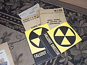2 Never Used Fallout Shelter Signs & More