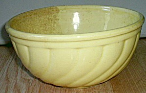 Antique Yellow Glaze Mixing Bowl Stoneware