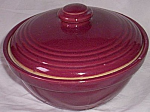 Stoneware Maroon Covered Casserole