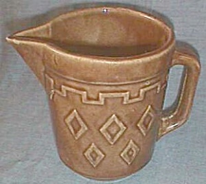 Western Stoneware Pitcher Diamond Pattern