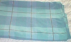 Vintage Blue Plaid Bed Cover/spread