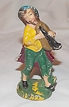 Italian Bagpipe Player Figurine