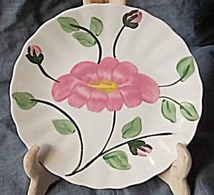 Blue Ridge Pottery Bread Butter Plate Rock Rose