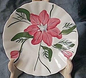 Blue Ridge Pottery Saucer Poinsettia