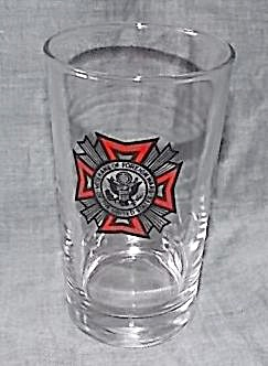 Vintage Vfw Drinking Glass Free To Service Person