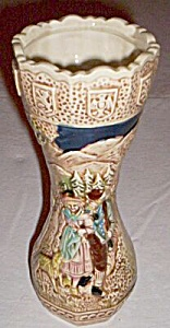 Majolica Style Vase German Couple