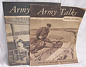 3 Army Talks Magazines 1945-1946
