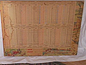 1954 Remington Schuyler Boy Scout Badge Board