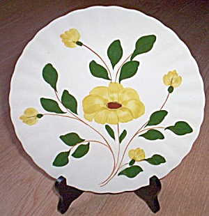 Blue Ridge Luncheon Plate Yellow Nocturne