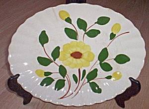 Blue Ridge Platter Yellow Nocturne