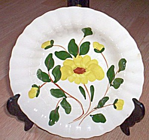 Blue Ridge Round Serving Bowl Yellow Nocturne