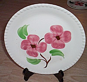 Blue Ridge Luncheon Plate Twin Flowers