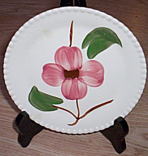 Blue Ridge Bread And Butter Plate Twin Flowers