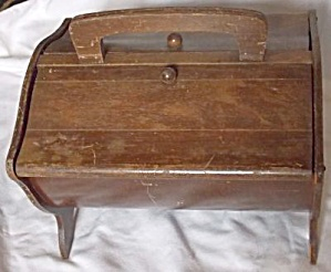 Vintage Wood Sewing Basket