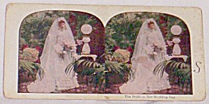 Stereoscope Card, Bride On Her Wedding Day