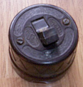 Vintage Bakelite And Porcelain Wall Switch