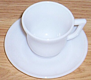 Hazel Atlas Little Hostess Ovide Cup & Saucer Set