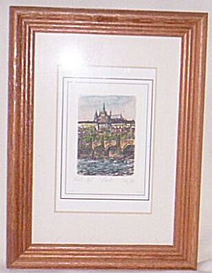 Original Hand Colored Artist Signed Miniature Picture