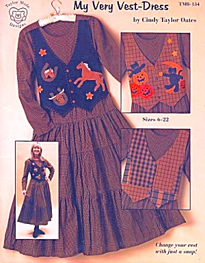My Very Vest-dress, Cindy Taylor Oates, Sz 6-22 Sewing Pattern