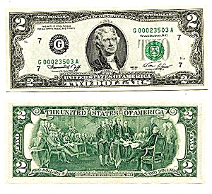 $2 U.s. Fed Reserve Note, 1976 Series