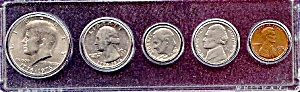 1976 5-coin Bicentennial Set In Plastic Holder