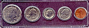 1984 5-coin Set In Plastic Holder