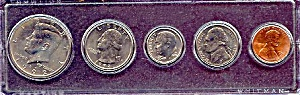 1992 5-coin Set In Plastic Holder