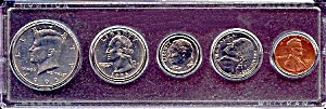 1995 5-coin Set In Plastic Holder