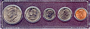 1991 5-coin Set In Plastic Holder
