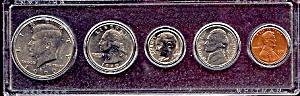1990 5-coin Set In Plastic Holder