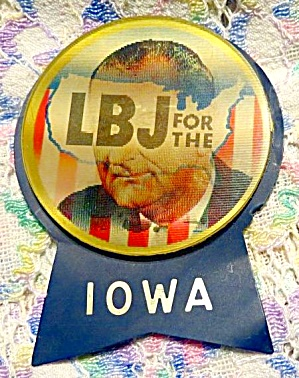 1964 Johnson 'lbj For The Usa' Holographic Pin