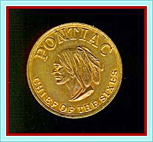 1950s Pontiac 'chief Of The Sixes' Token