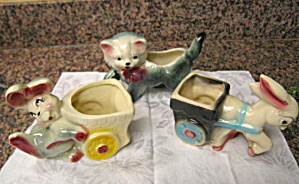 Animal Pottery Vintage Planters