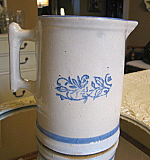 Antique Blue White Table Pitcher