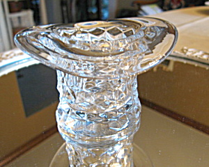 Glass Hat Toothpick Vase Antique