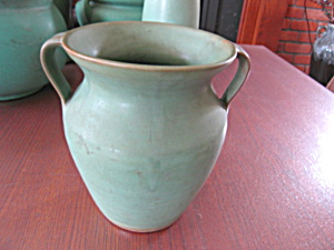 Matte Green Art Pottery
