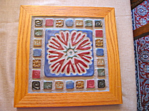 Sara Frank Framed Large Art Tile