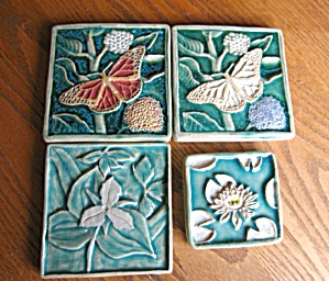 Signed Art Pottery Tiles Group