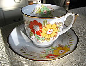 Bell China Enameled Flower Teacup