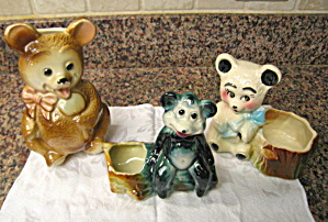 American Bisque Bear Planters