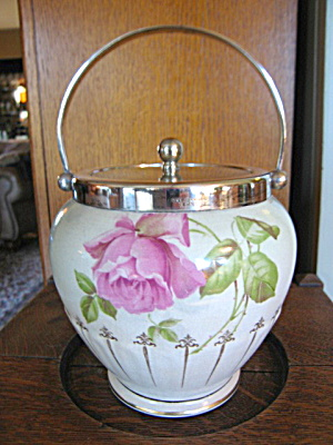 English Rose Antique Biscuit Jar